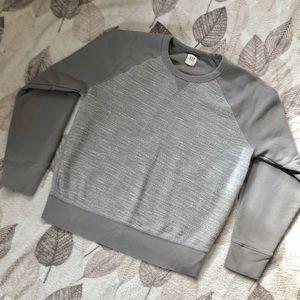 GAP Crew Neck Heather Print Loose Fit Size L Grey